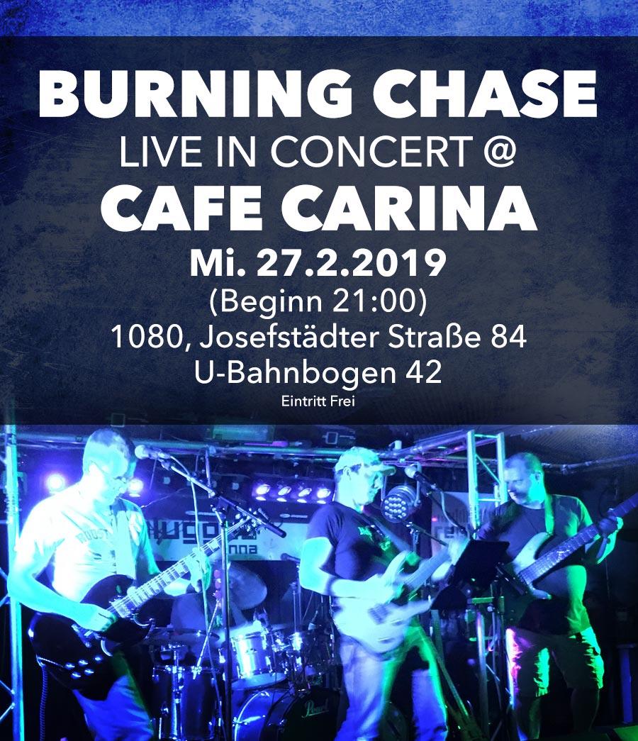 Burning Chase Live at Cafe Carina